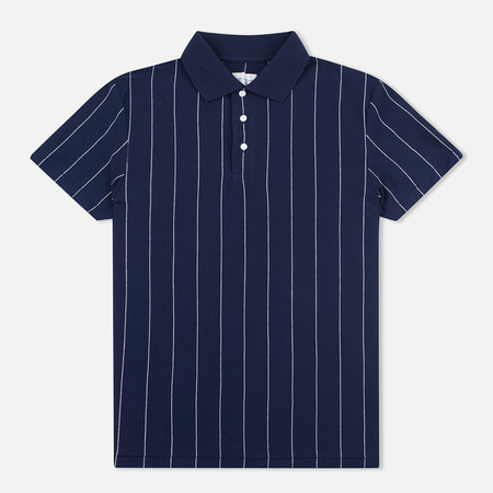 Gant Rugger Pinstriped Men's Polo Classic Blue