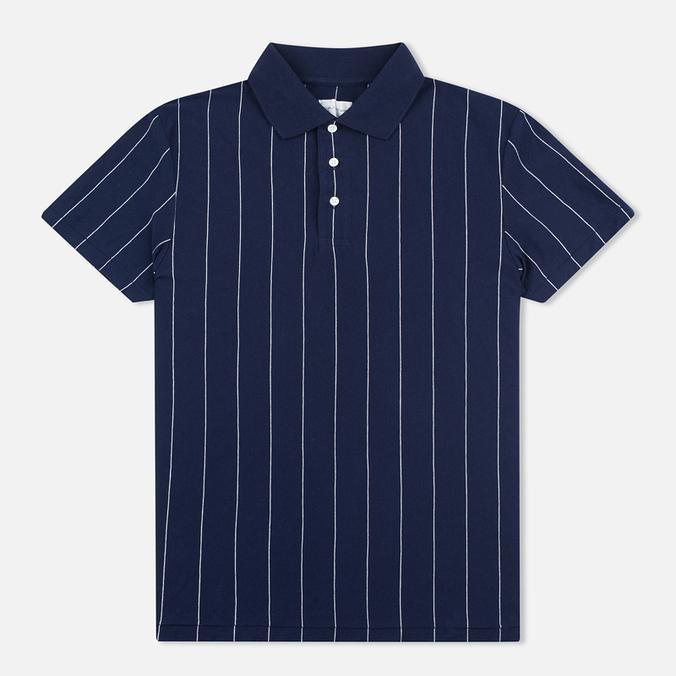 Мужское поло Gant Rugger Pinstriped Classic Blue