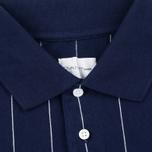 Мужское поло Gant Rugger Pinstriped Classic Blue фото- 2