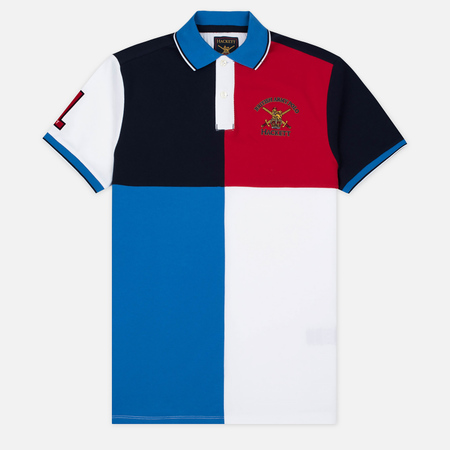 Hackett Army Four Panel Men's Polo Navy/Multicolor