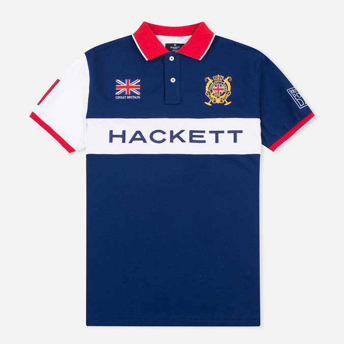 Мужское поло Hackett British Polo Day GBR French Blue