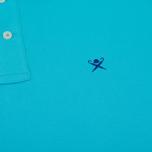 Мужское поло Hackett Classic Logo Aqua фото- 3