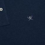 Мужское поло Hackett Classic Logo True Blue фото- 3