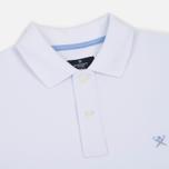 Мужское поло Hackett Classic Logo White фото- 1