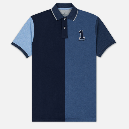 Hackett Marl Pieced Men's Polo Blue/Multicolor