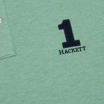 Мужское поло Hackett New Classic Green/Navy фото- 3
