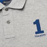 Мужское поло Hackett New Classic Grey Marl фото- 2