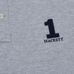 Мужское поло Hackett New Classic Grey Marl/Navy фото- 3