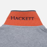 Мужское поло Hackett New Classic Grey Marl/Navy фото- 5