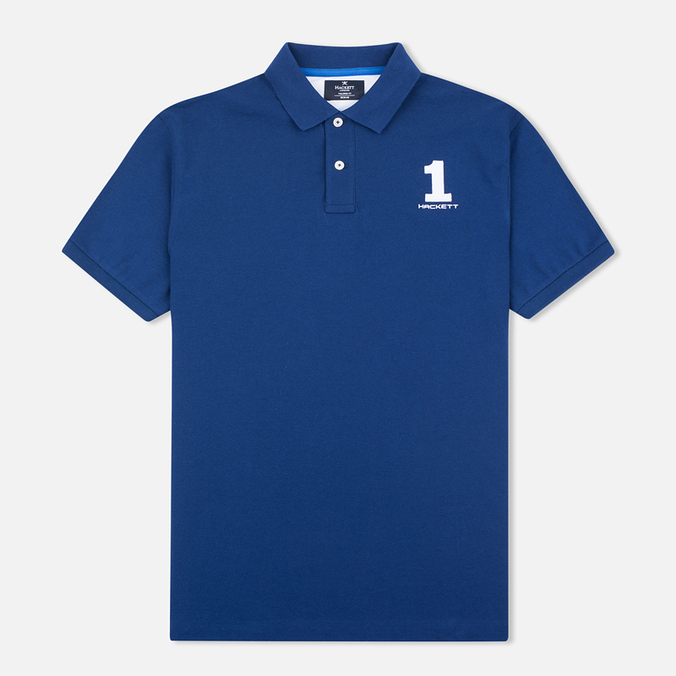 Hackett New Classic Number Men's Polo French Blue