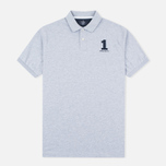 Hackett New Classic Number Men's Polo Light Grey Marl photo- 0