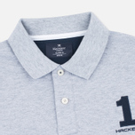 Hackett New Classic Number Men's Polo Light Grey Marl photo- 1