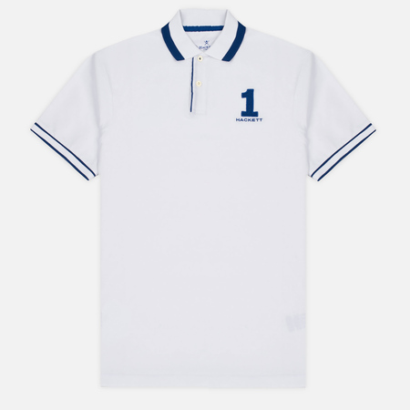 Hackett Number Classic Men's Polo White