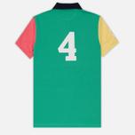 Мужское поло Hackett Numbered Multi Navy/Green/Yellow/Pink фото- 6