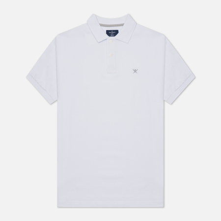 Мужское поло Hackett Slim Fit Logo Optic White