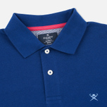 Мужское поло Hackett Tailored Logo French Blue фото- 1