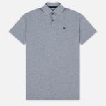 Мужское поло Hackett Tailored Logo Grey Marl фото- 0