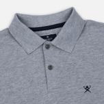 Мужское поло Hackett Tailored Logo Grey Marl фото- 1
