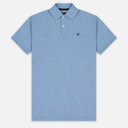 Hackett Tailored Logo Men's Polo Sky/Navy