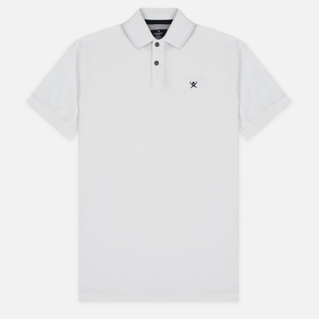 Hackett Tailored Logo Men's Polo Winter White