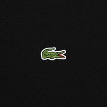 Мужское поло Lacoste Live Loose Fit Signature Cotton Pique Black/White фото- 2