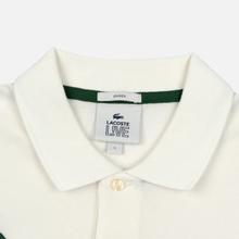Мужское поло Lacoste Live Loose Fit Signature Cotton Pique White/Green фото- 1