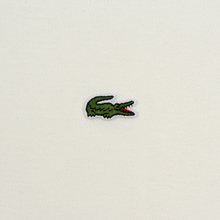Мужское поло Lacoste Live Loose Fit Signature Cotton Pique White/Green фото- 2