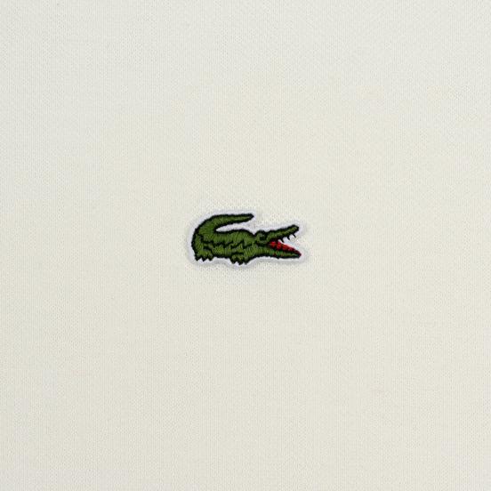 Мужское поло Lacoste Live Loose Fit Signature Cotton Pique White/Green