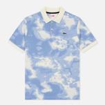 Мужское поло Lacoste Live Regular Fit Cloud Print Geode/Atmosphere фото- 0