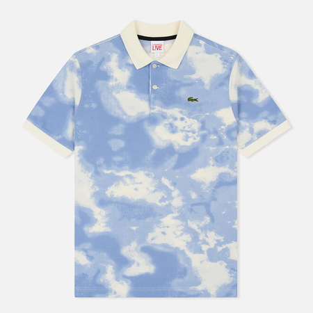 Мужское поло Lacoste Live Regular Fit Cloud Print Geode/Atmosphere