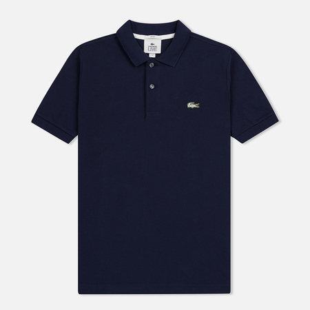 Мужское поло Lacoste Live Slim Fit Petit Pique Navy Blue