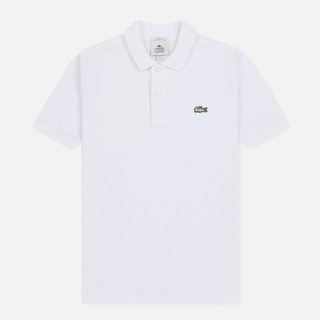 Мужское поло Lacoste Live Slim Fit Petit Pique White
