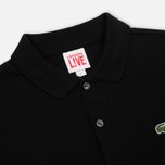Мужское поло Lacoste Live Ultra Slim Fit Petit Pique Black фото- 1