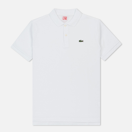 Мужское поло Lacoste Live Ultra Slim Fit Petit Pique White