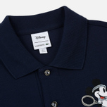 Мужское поло Lacoste x Disney Embroidered Mickey Mouse Navy фото- 1