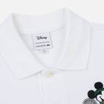 Мужское поло Lacoste x Disney Embroidered Mickey Mouse White фото- 1