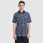 Мужское поло Lacoste x Keith Haring Print Classic Fit Navy Blue/White фото- 1