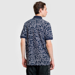 Мужское поло Lacoste x Keith Haring Print Classic Fit Navy Blue/White фото- 3