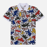 Мужское поло Lacoste x Keith Haring Print Classic Fit White/White фото- 0