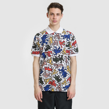 Мужское поло Lacoste x Keith Haring Print Classic Fit White/White фото- 1