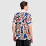 Мужское поло Lacoste x Keith Haring Print Classic Fit White/White фото- 3