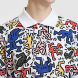 Мужское поло Lacoste x Keith Haring Print Classic Fit White/White фото- 2