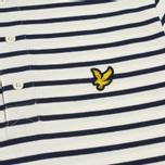 Мужское поло Lyle & Scott Breton Stripe Regular Fit Off White фото- 2