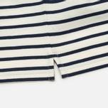 Мужское поло Lyle & Scott Breton Stripe Regular Fit Off White фото- 4