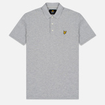 Мужское поло Lyle & Scott Pique Jersey Light Grey Marl фото- 0