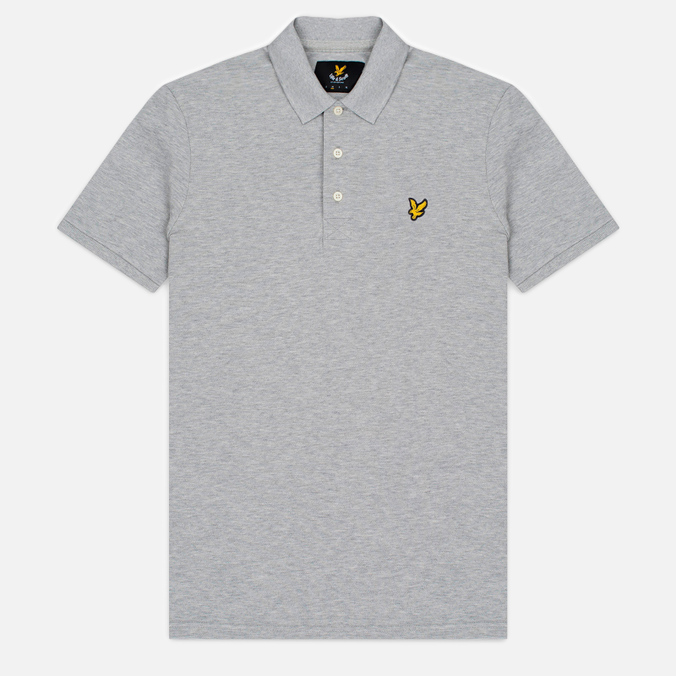 Мужское поло Lyle & Scott Pique Jersey Light Grey Marl