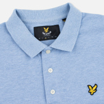 Мужское поло Lyle & Scott Marl Pique Jersey Regular Fit Blue Marl фото- 1