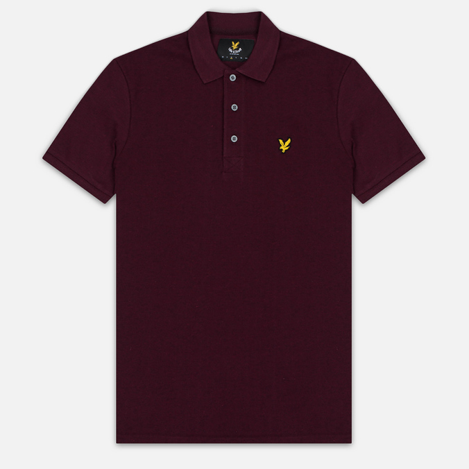 Мужское поло Lyle & Scott Marl Pique Jersey Regular Fit Claret Marl
