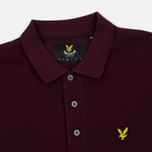 Мужское поло Lyle & Scott Marl Pique Jersey Regular Fit Claret Marl фото- 2
