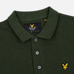 Мужское поло Lyle & Scott Marl Pique Jersey Regular Fit Dark Sage Marl фото- 2